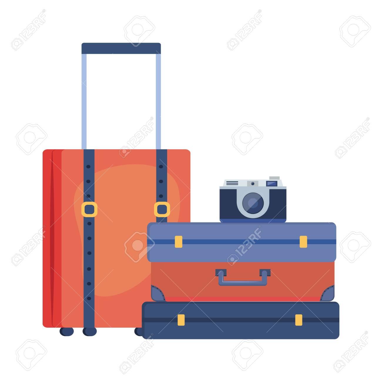 Suitcase and travel design - 128343930
