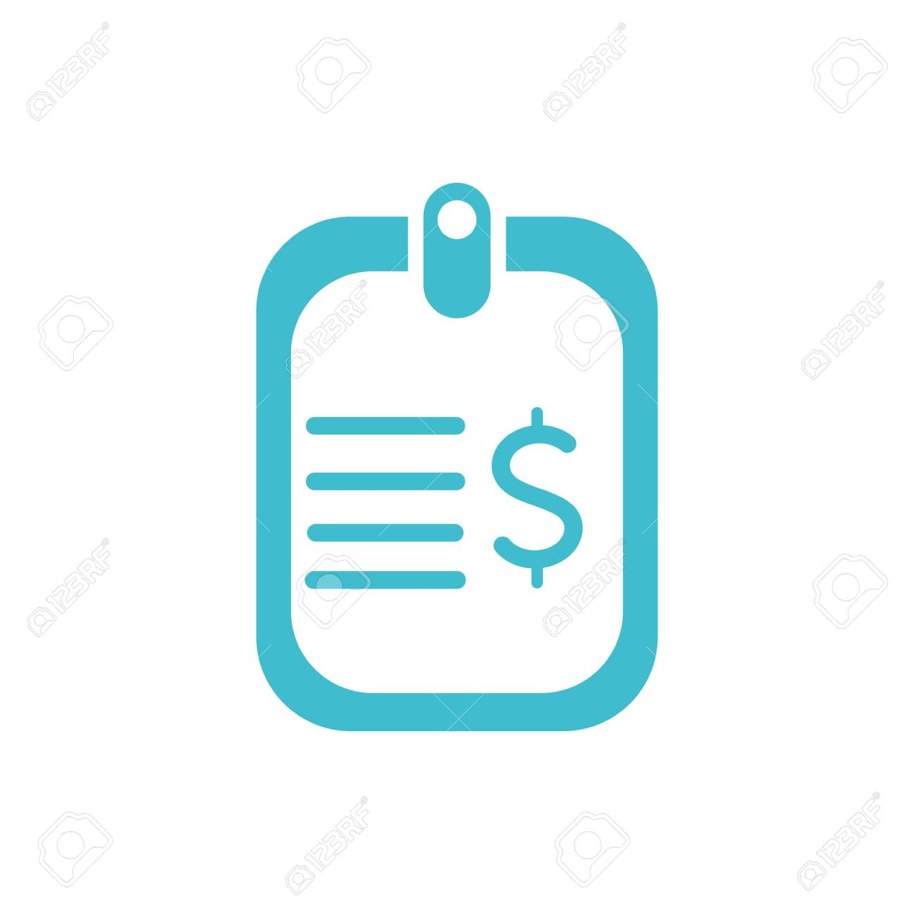 card money business finance color silhouette - 133218036