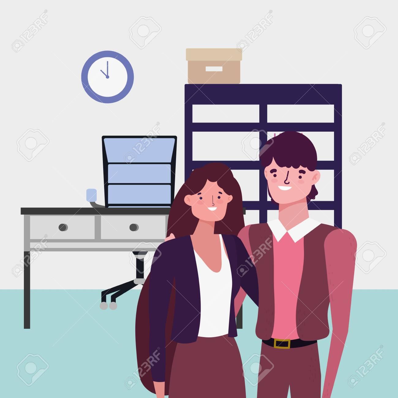 Businessman and businesswoman avatar design - 135853481