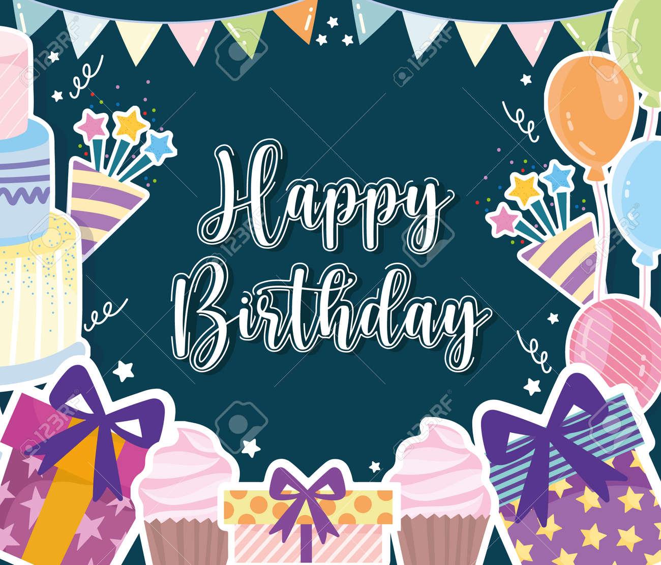 Birthday celebration party festive card - 165102378