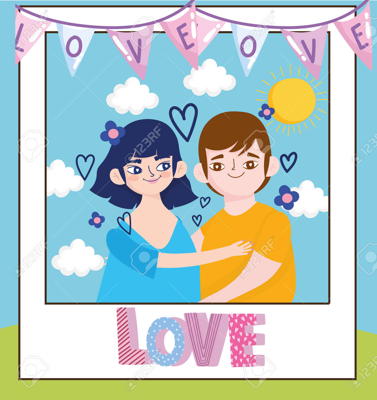 love couple in photo - 171587500