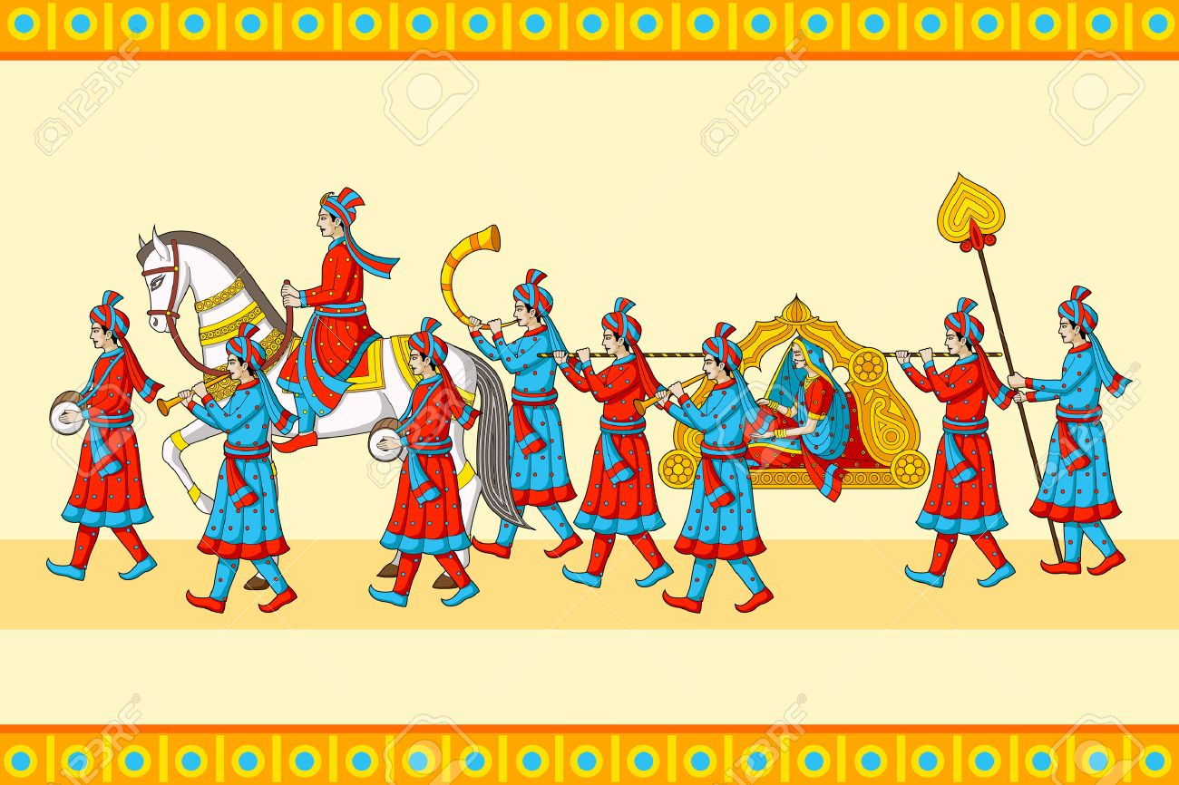 indian wedding baraat ceremony royalty free cliparts vectors and