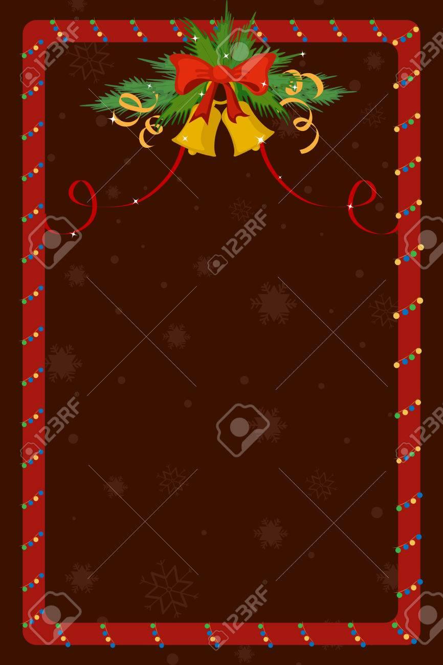 Feliz Navidad Celebración Frontera Y El Marco De La Decoración En El ...