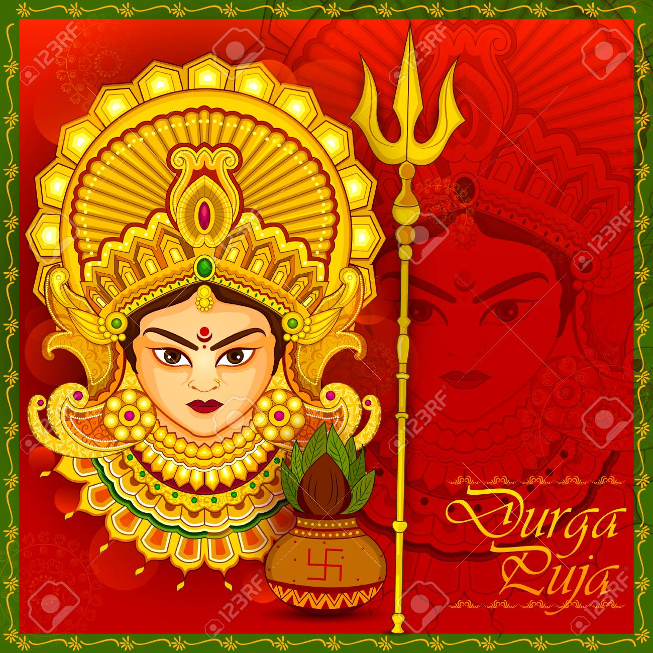 Beautiful Face Of Goddess Durga For Happy Dussehra Or Shubh Navratri..  Royalty Free Cliparts, Vectors, And Stock Illustration. Image 86477844.