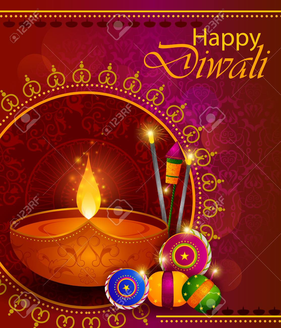 Happy diwali light festival of india greeting background royalty happy diwali light festival of india greeting background stock vector 87271461 m4hsunfo