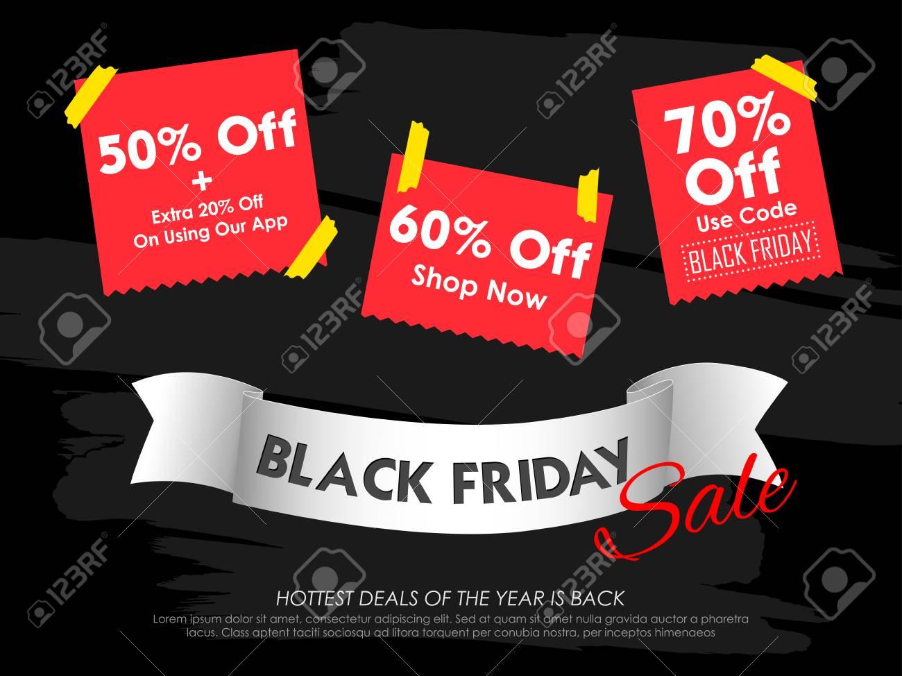 Black Friday Sale Shopping Angebot Und Promotion Hintergrund Am ...