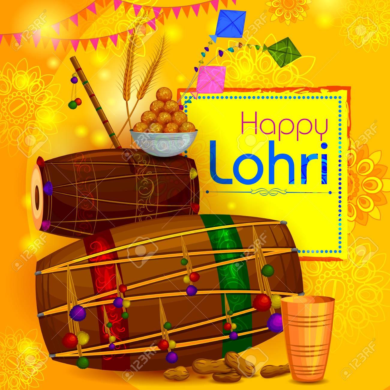 Happy Lohri Punjabi Religious Holiday ...