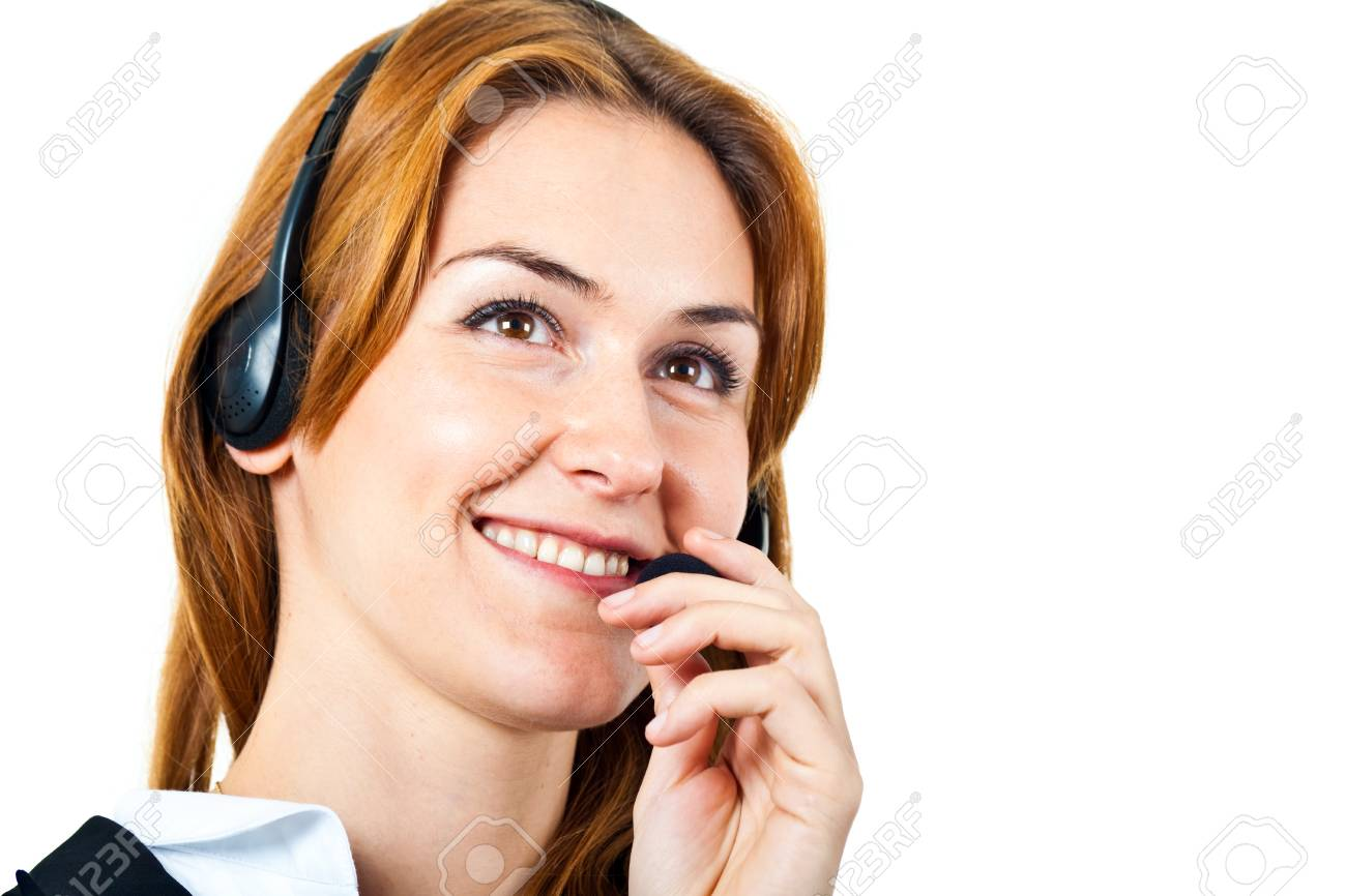 Portrait of a beautiful customer representative Stock Photo - 14115659