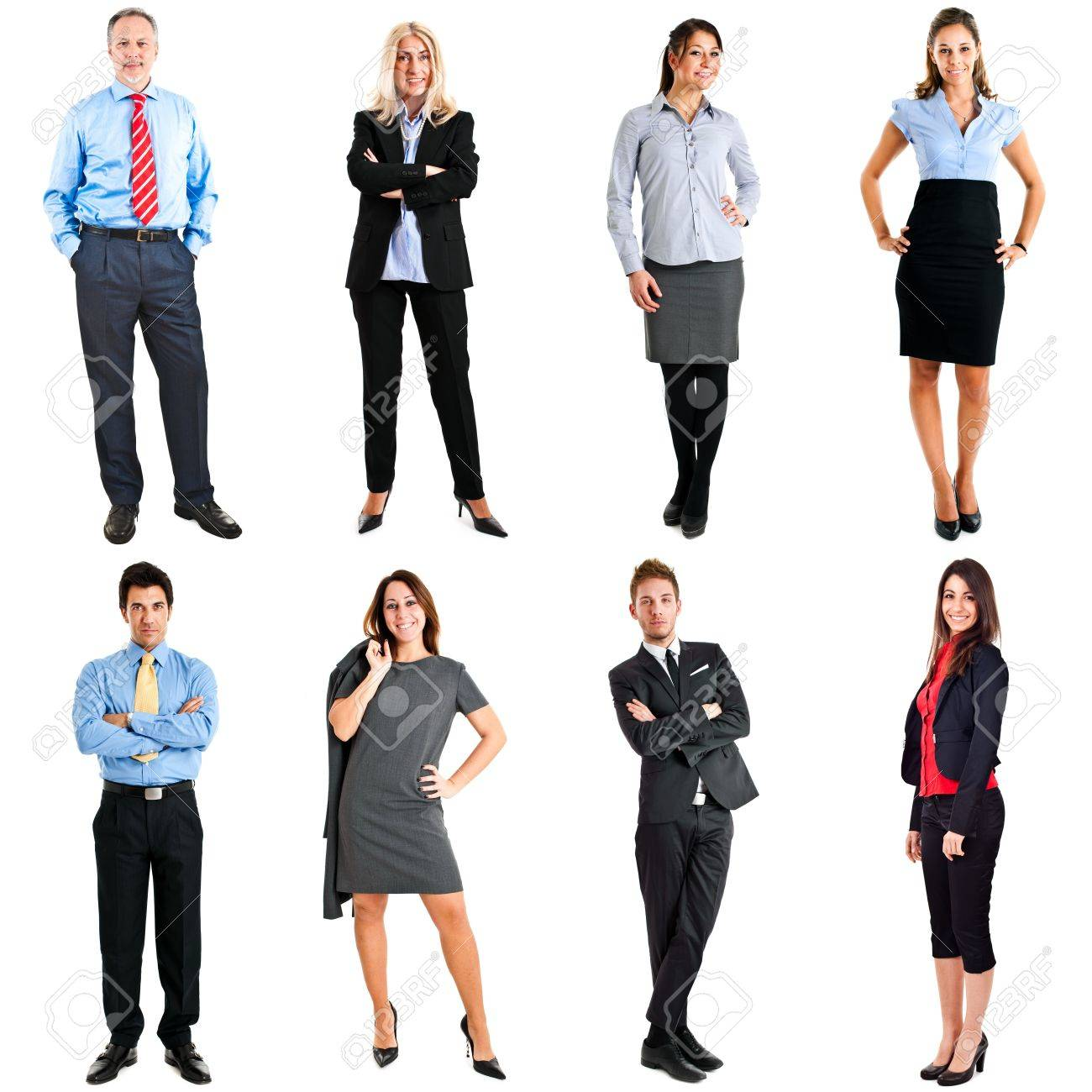 Collection of full length portraits of business people Stock Photo - 14330136