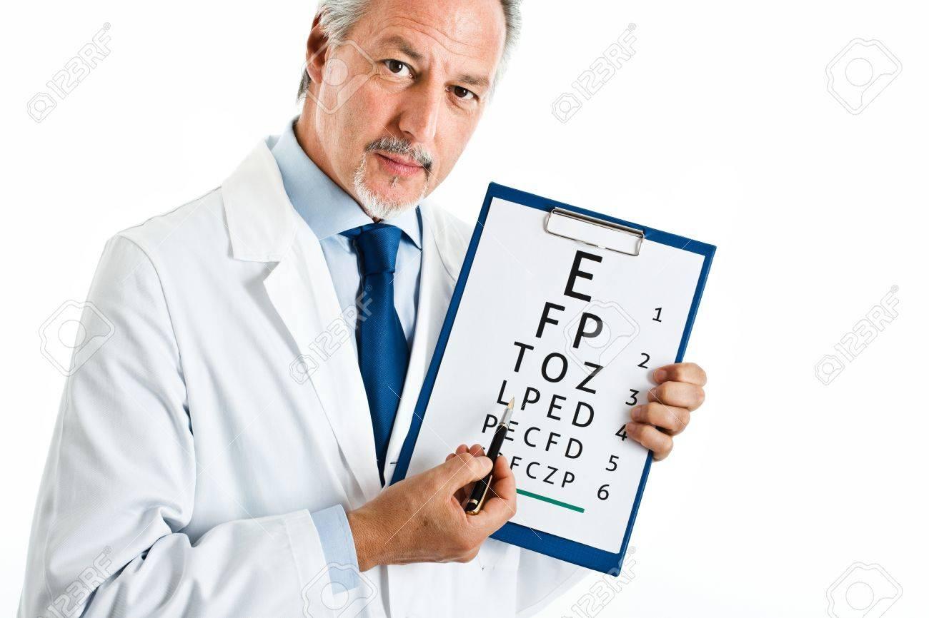 Oculist doing an optical test Stock Photo - 14330046