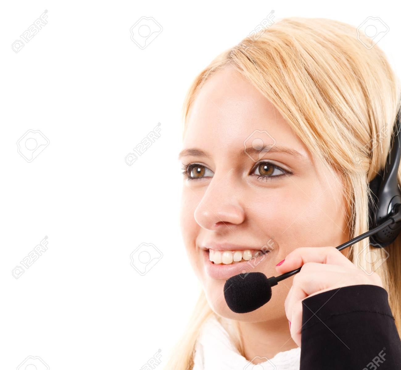 Phone operator helping a customer Stock Photo - 14598430