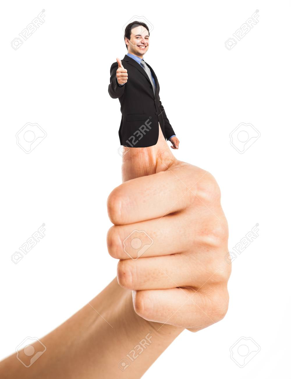 Businessman doing thumbs up Stock Photo - 15174187
