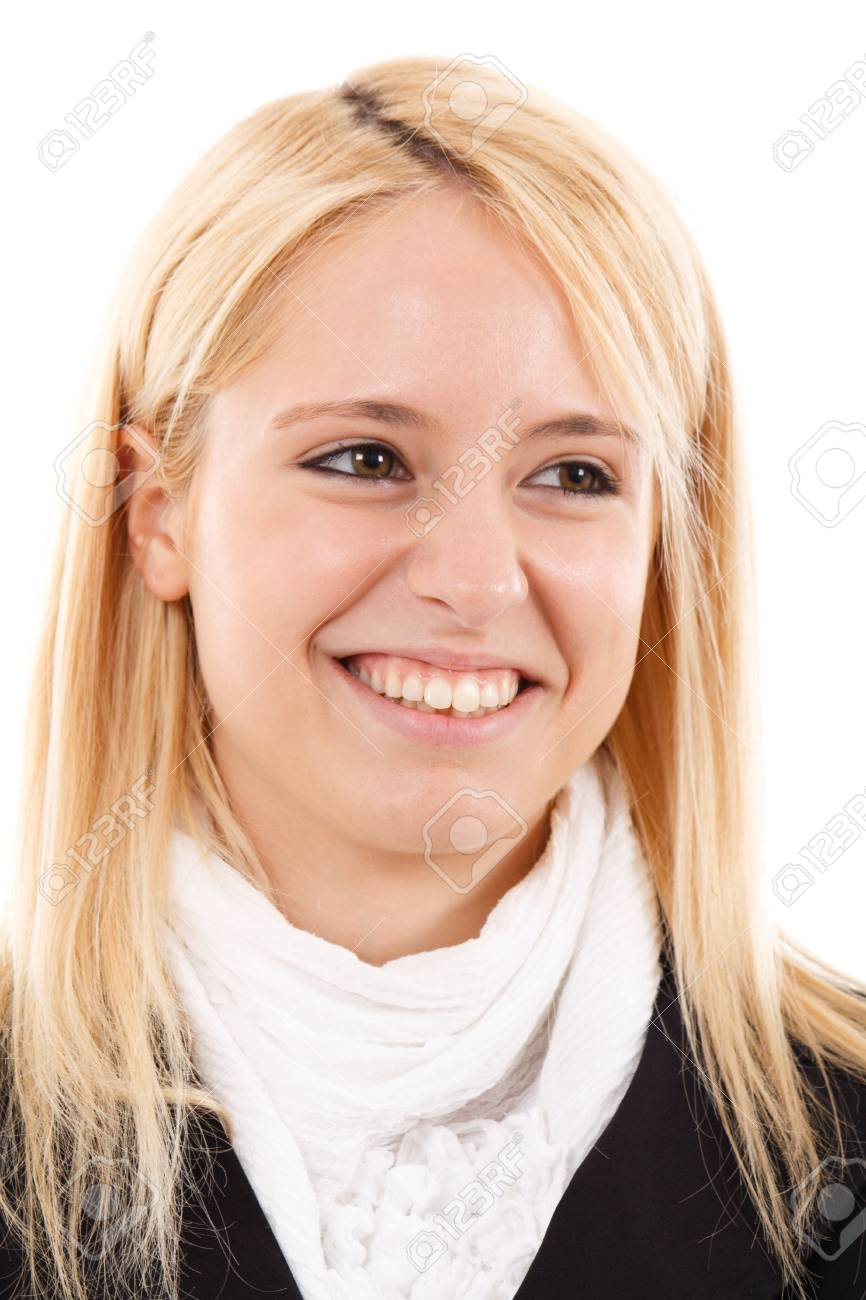 Portrait of a young beautiful businesswoman Stock Photo - 15444530