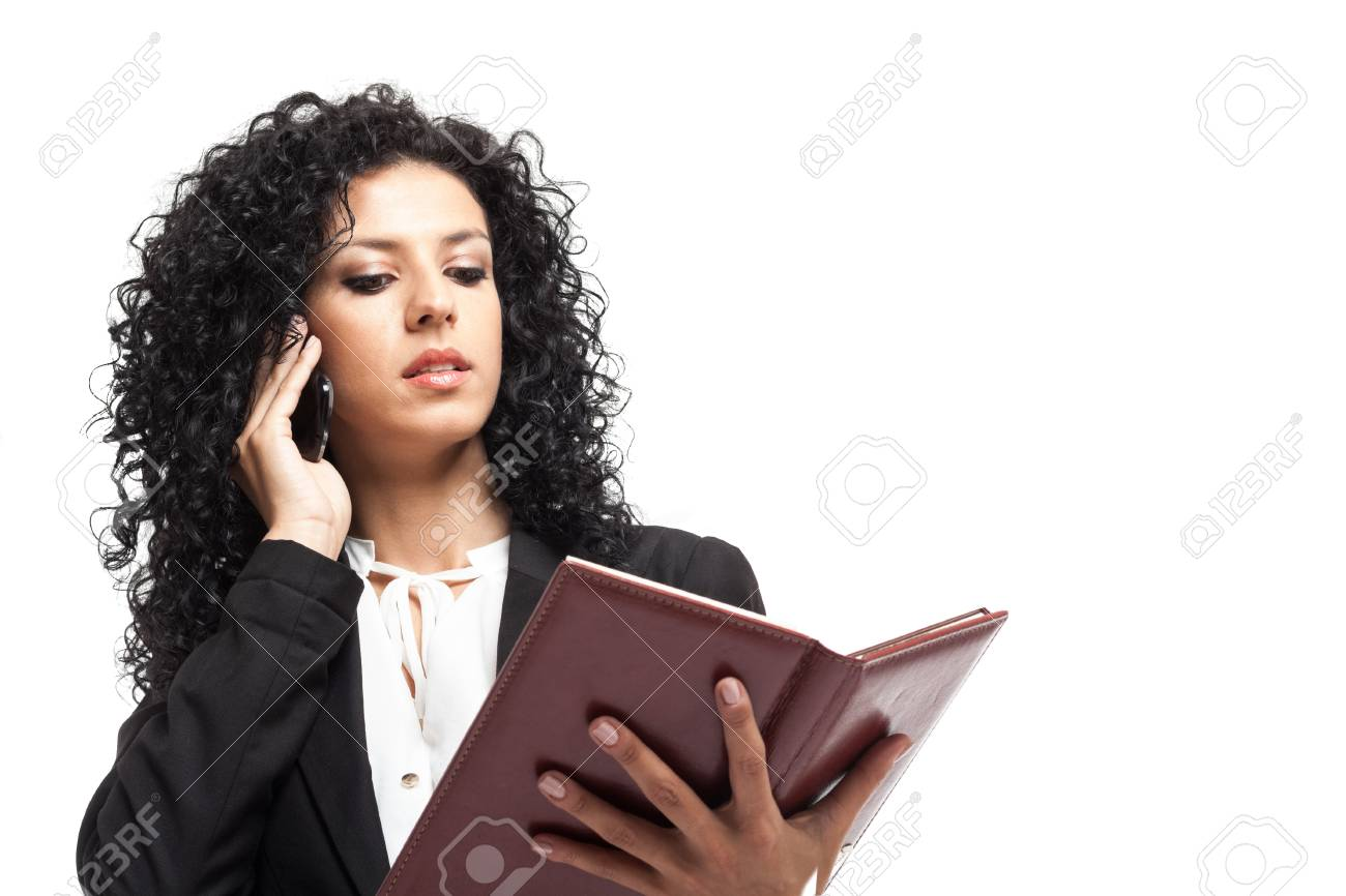 Portrait of a busy businesswoman at work Stock Photo - 15667041