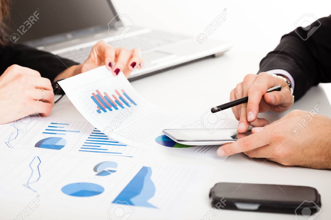 Business people discussing during a meeting Stock Photo - 16129642