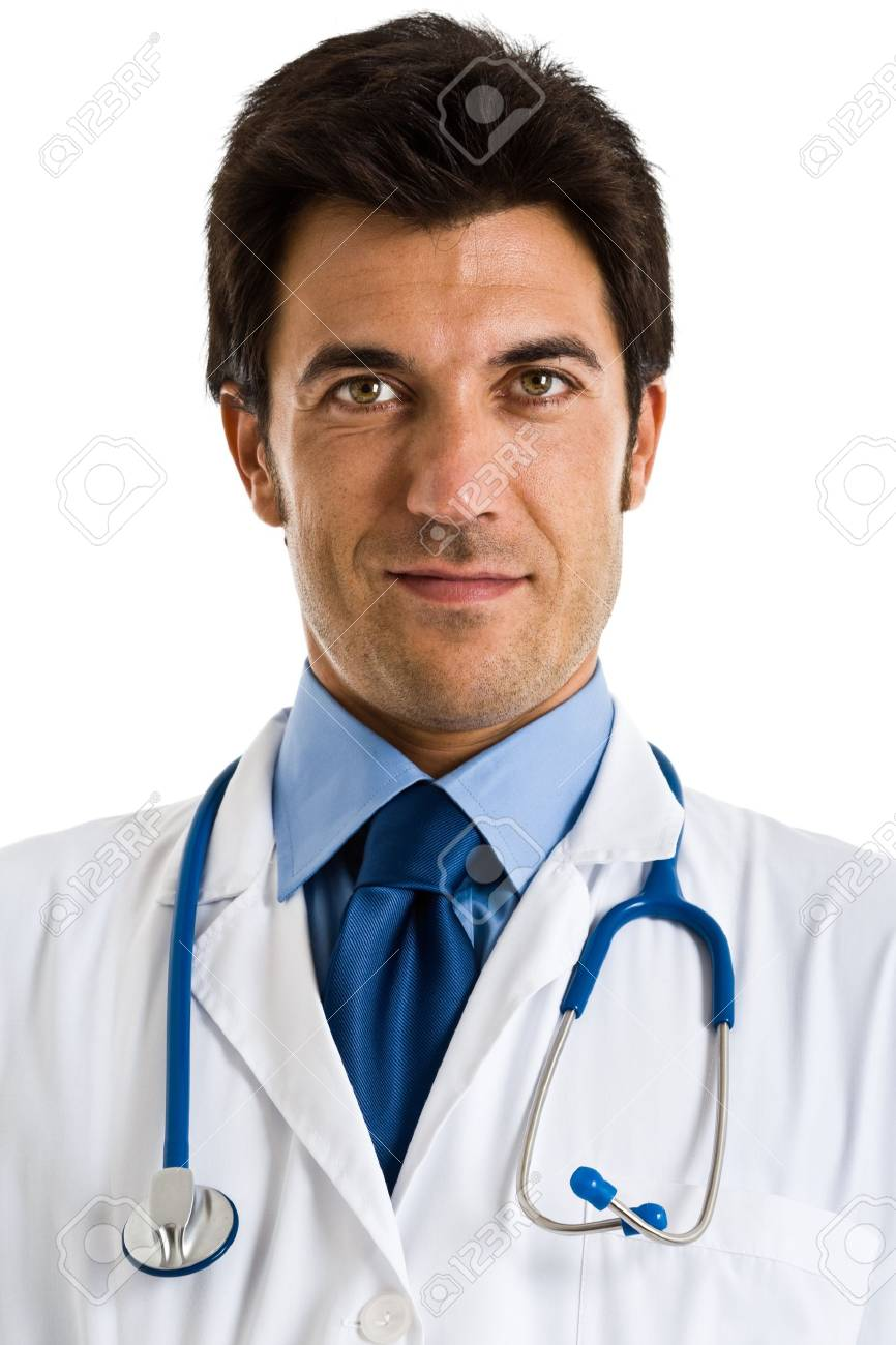 Portrait of an handsome doctor  Isolated on white Stock Photo - 16732773