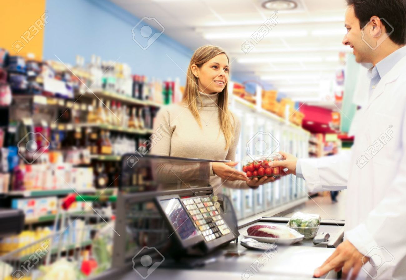 Woman shopping at the supermarket Stock Photo - 16732863