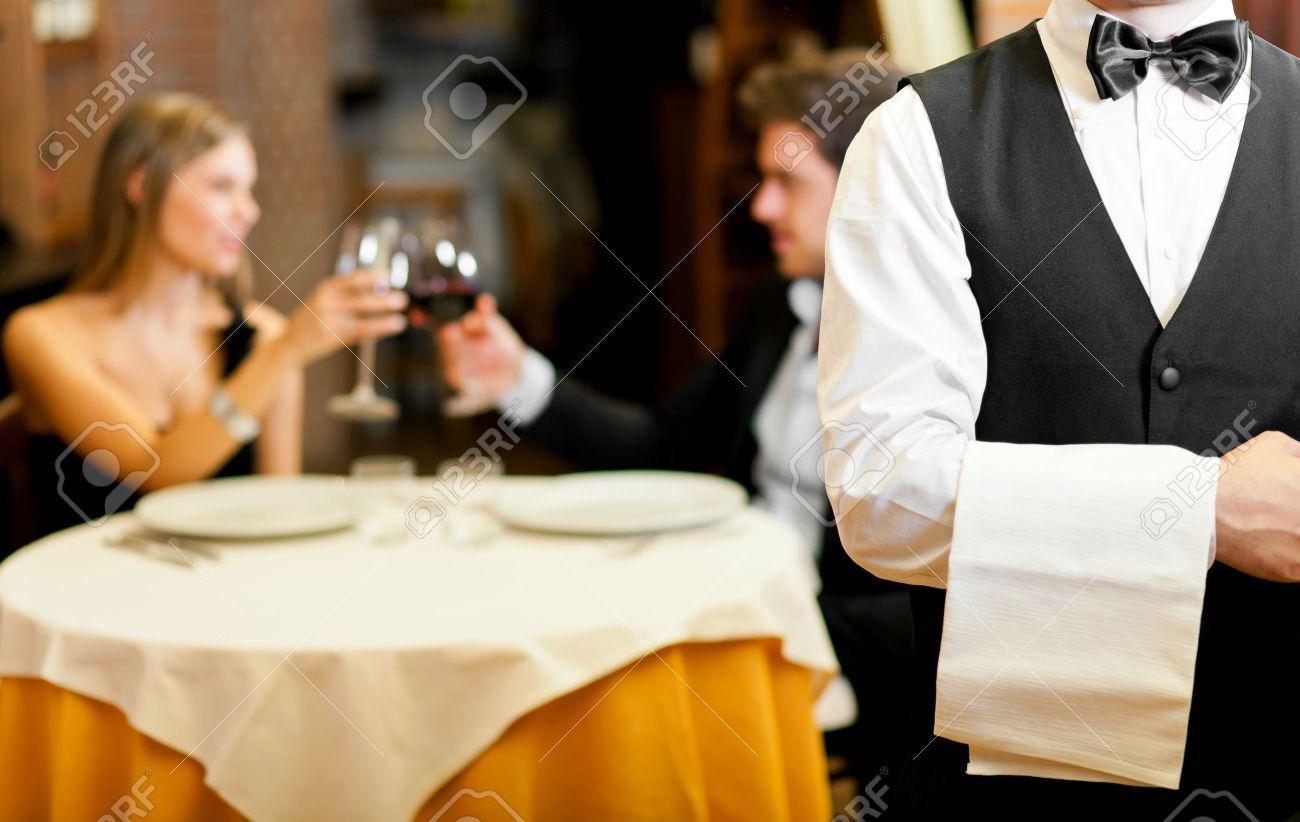 Couple having dinner in a restaurant - 17419996