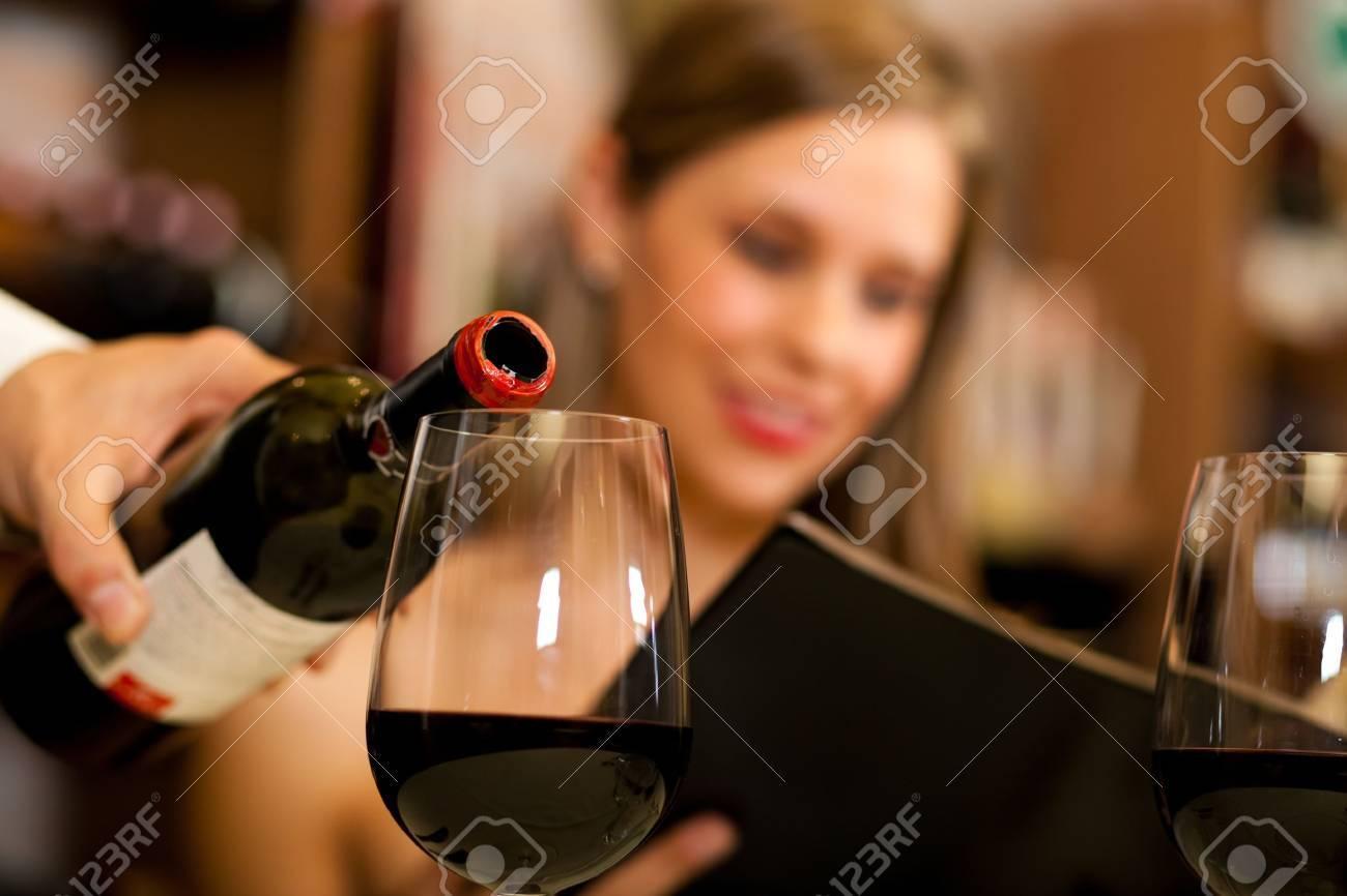 Couple having dinner in a restaurant Stock Photo - 17419980