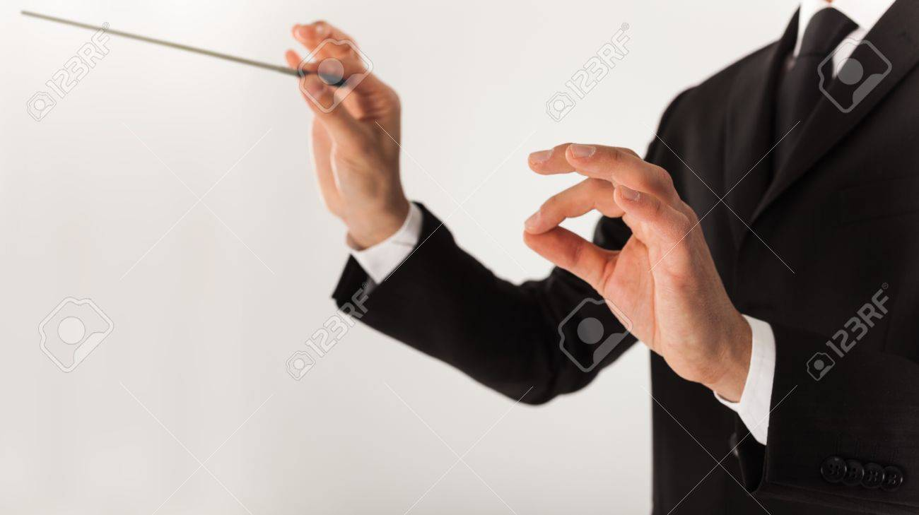 Leader directing an orchestra Stock Photo - 18466266