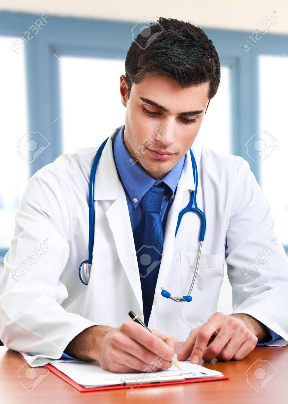 Portrait of an handsome young doctor Stock Photo - 19094341