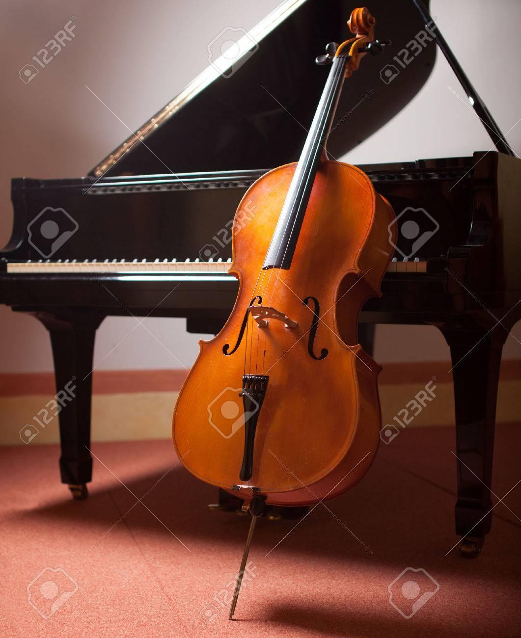 Classical music concept: piano and cello