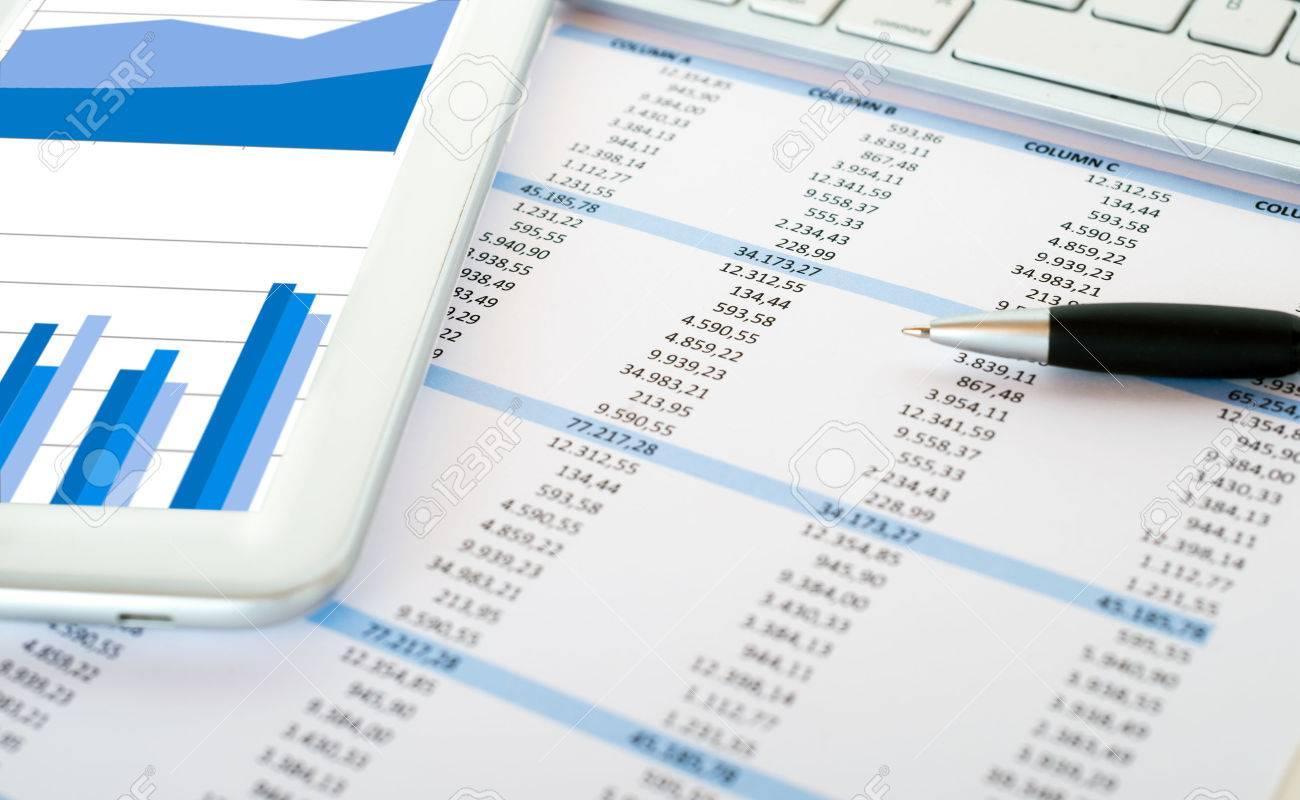 Elegant Financial Data Analysis Concept Stock Photo   55324462 Awesome Ideas