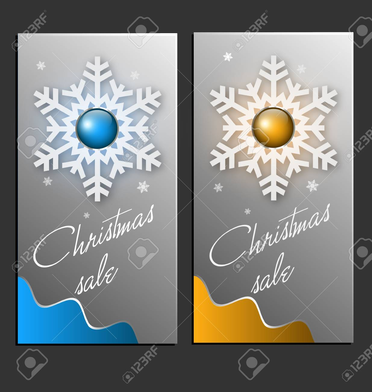 illustration of Christmas sale cards Stock Vector - 16080553