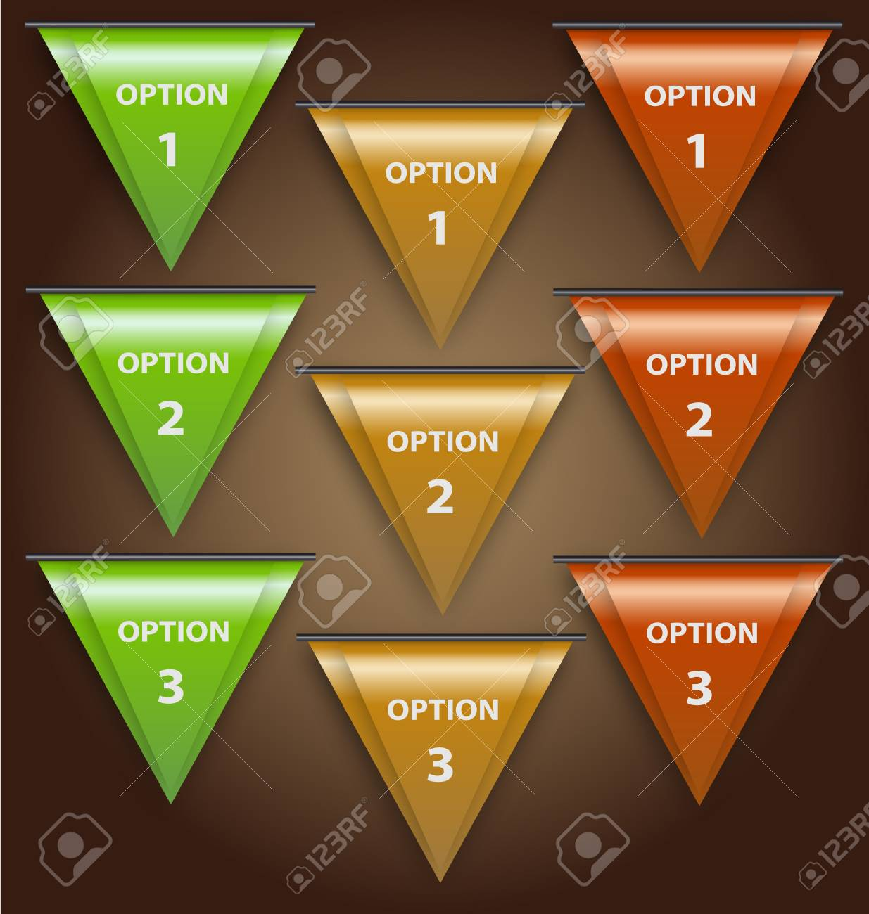 Design of a creative set of  option headers for multipurpose use Stock Vector - 16160681