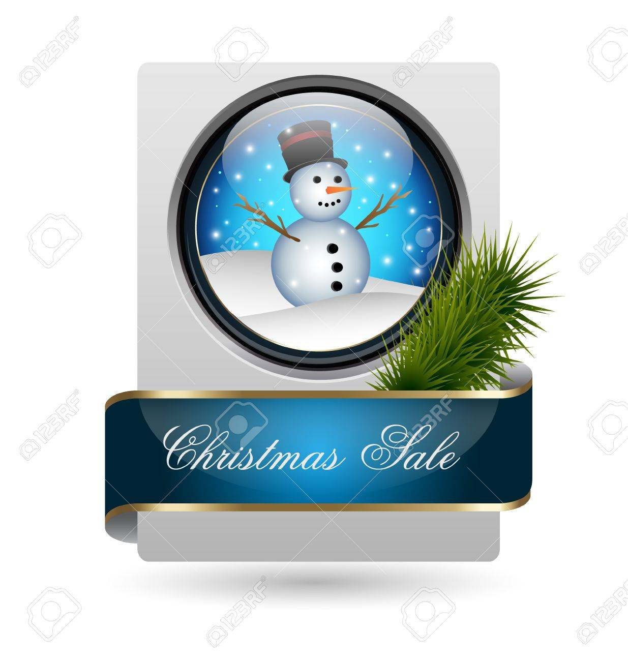 Vector illustration of Christmas sale card Stock Vector - 16701634
