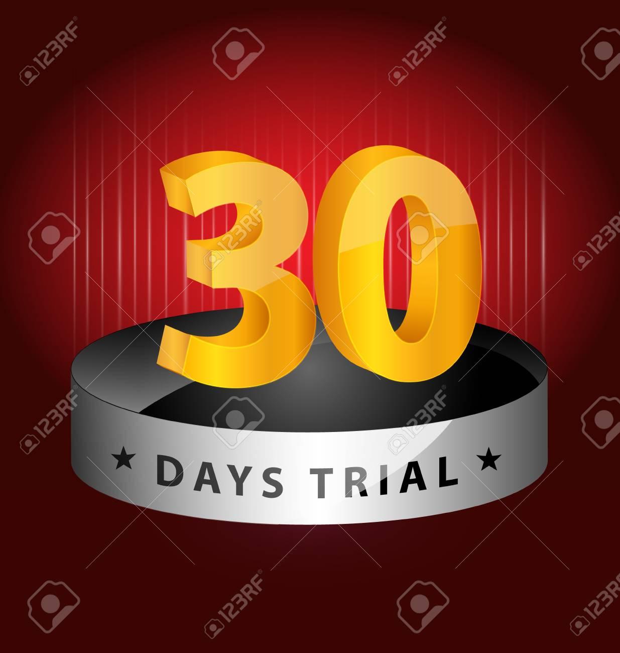 Originally created 30 days trial design element for multipurpose use Stock Vector - 17076328