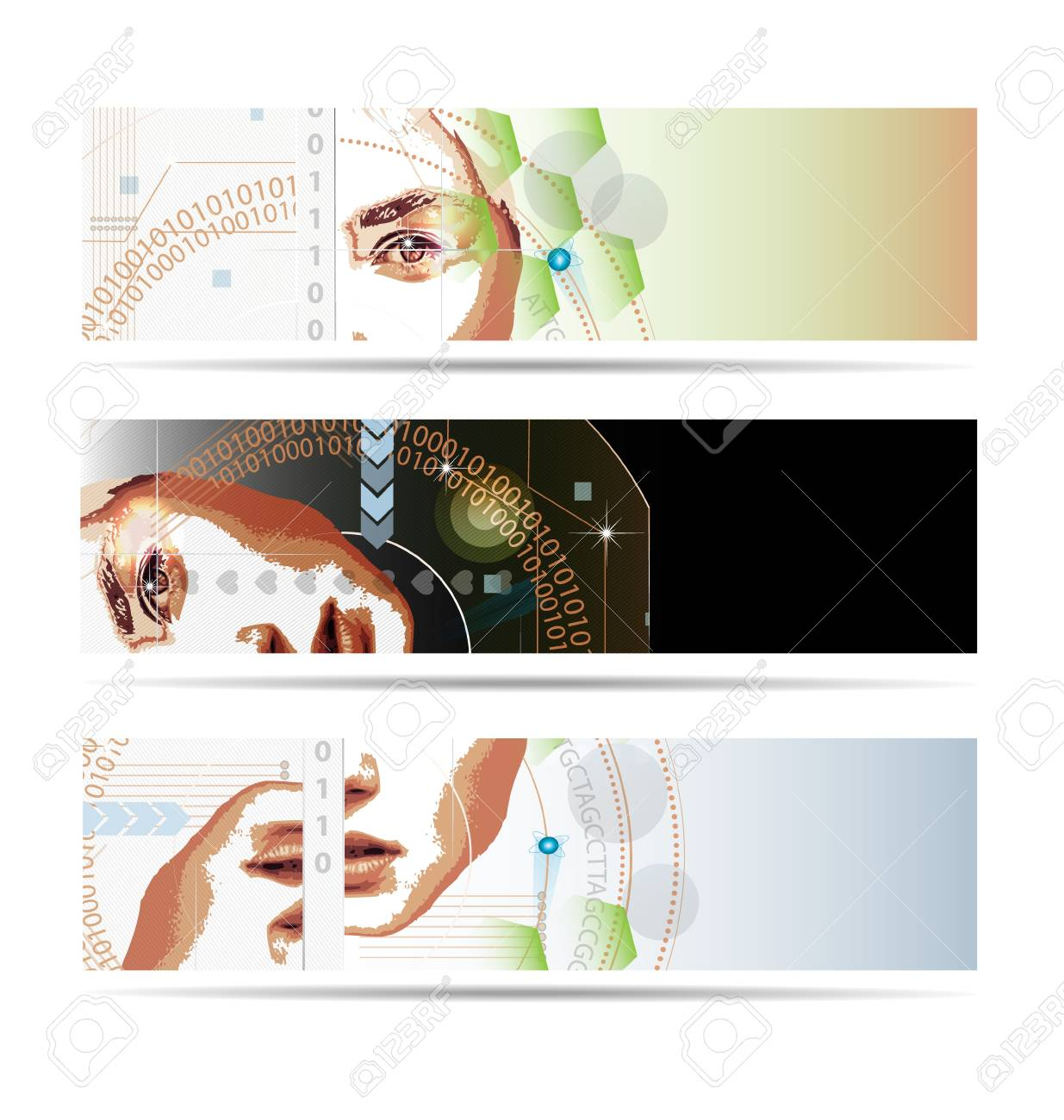 Abstract illustration in high-tech style made with the illustrator tools Stock Illustration - 18139178