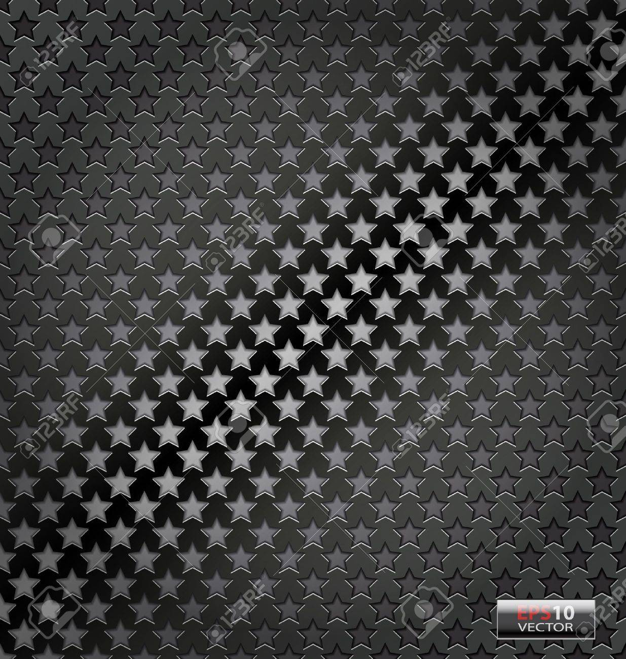 Creative illustration of the star lite dynamic vector  metal background Stock Vector - 19805304