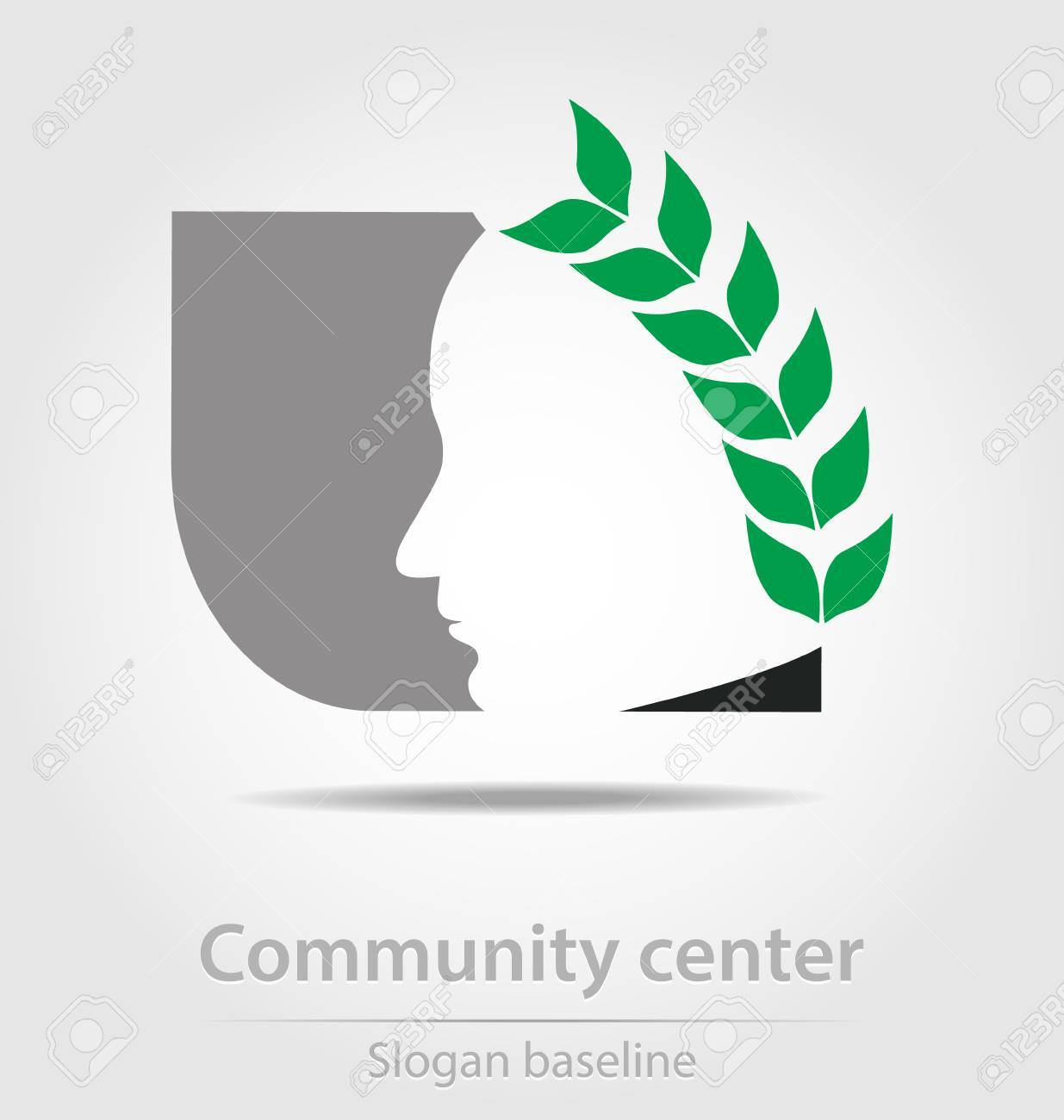 Original community center business icon Stock Vector - 23063978