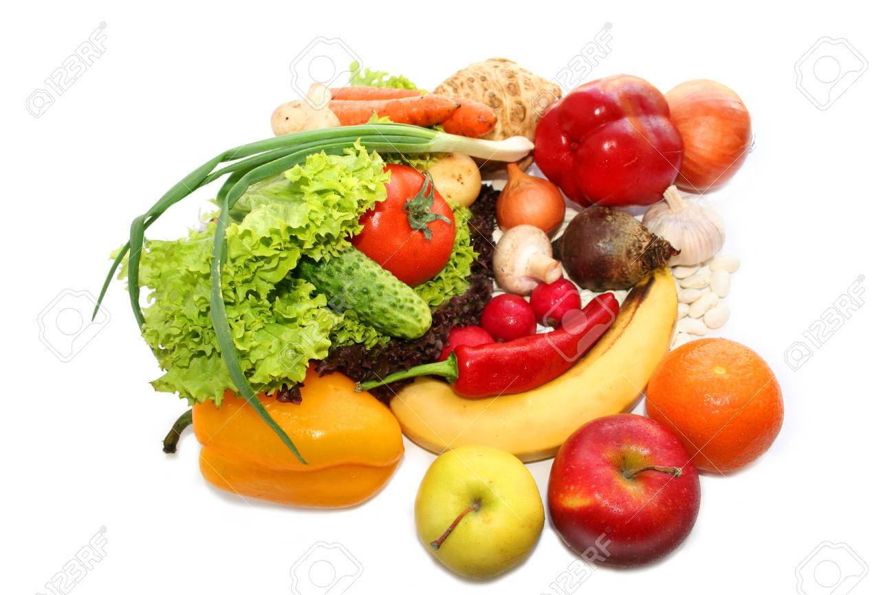 Vegetables. Still life, isolated over the white Stock Photo - 1050733
