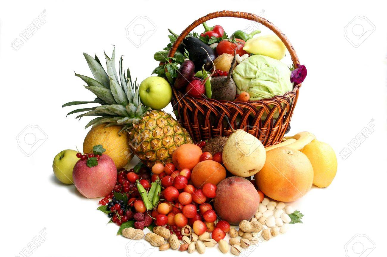 Delicious vegetative composition. Still life over the white background Stock Photo - 2067911