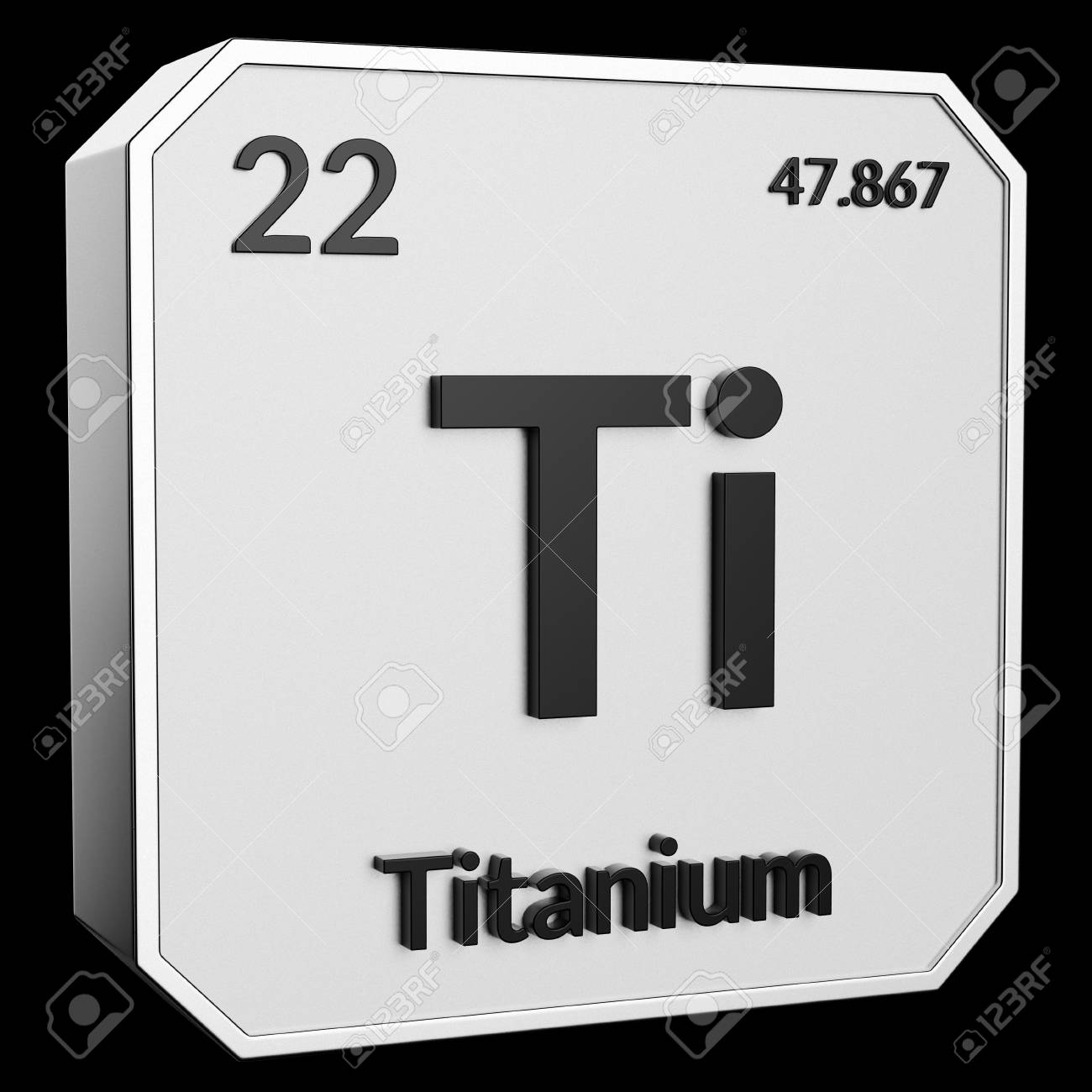 3d Text Of Chemical Element Titanium Its Atomic Weight Periodic