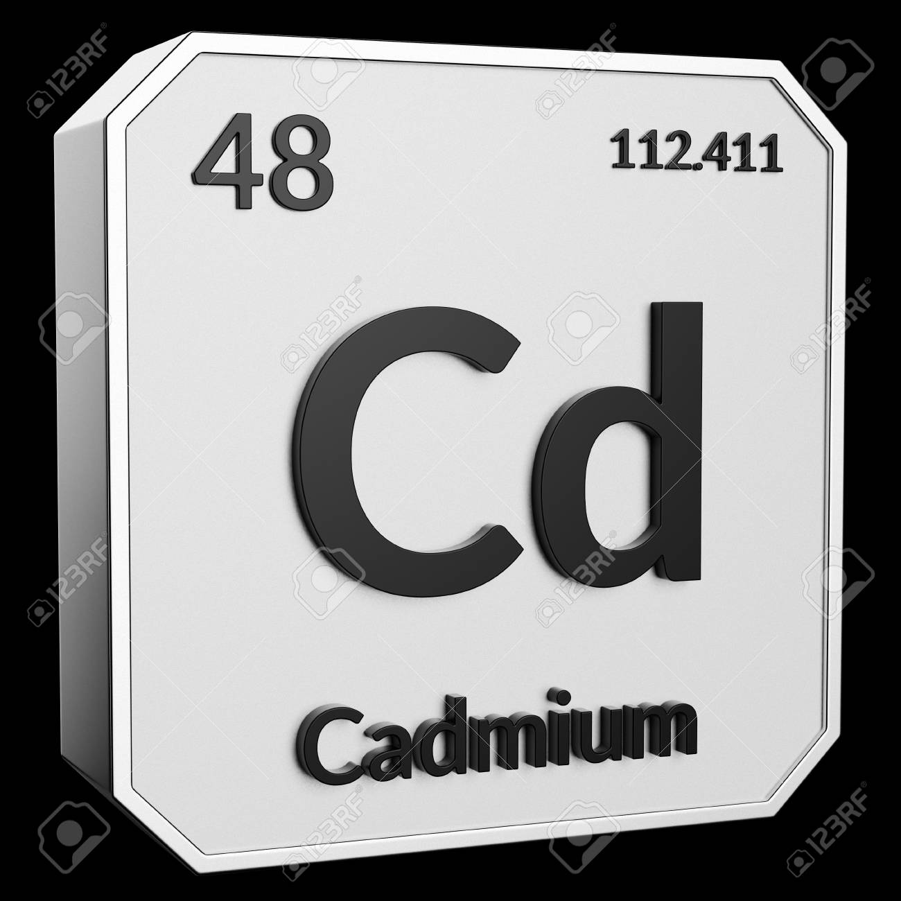 3d Text Of Chemical Element Cadmium Its Atomic Weight Periodic
