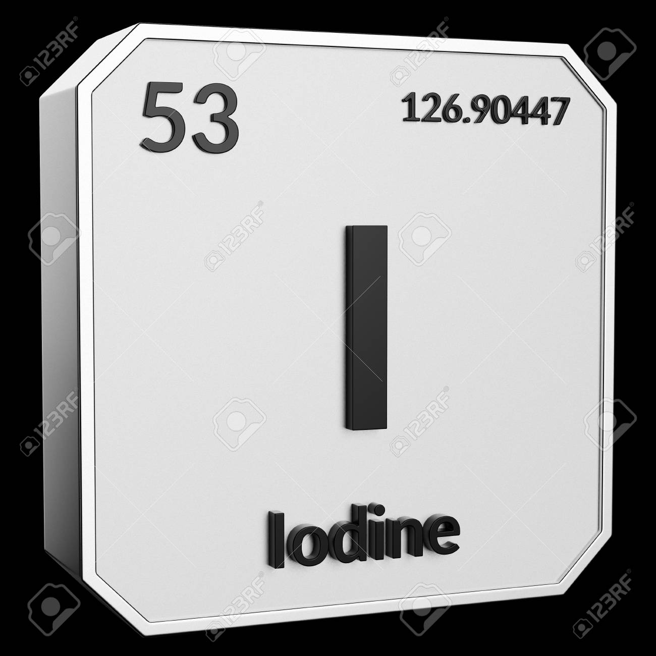 3d Text Of Chemical Element Iodine Its Atomic Weight Periodic