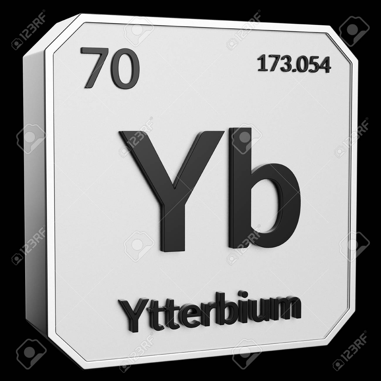 3d Text Of Chemical Element Ytterbium Its Atomic Weight Periodic