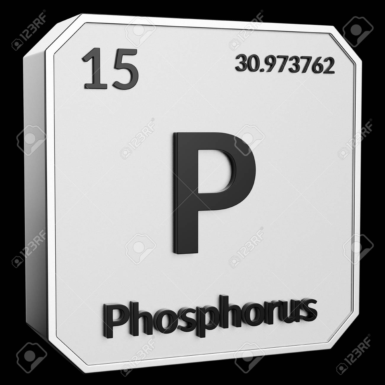 3d Text Of Chemical Element Phosphorus Its Atomic Weight Periodic