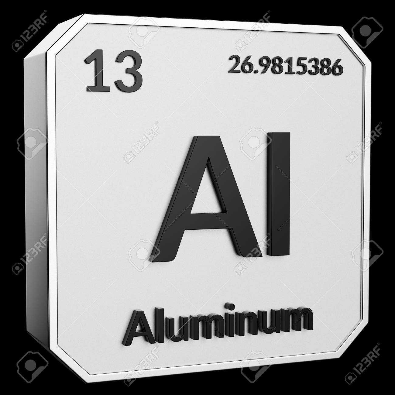 3d Text Of Chemical Element Aluminum Its Atomic Weight Periodic