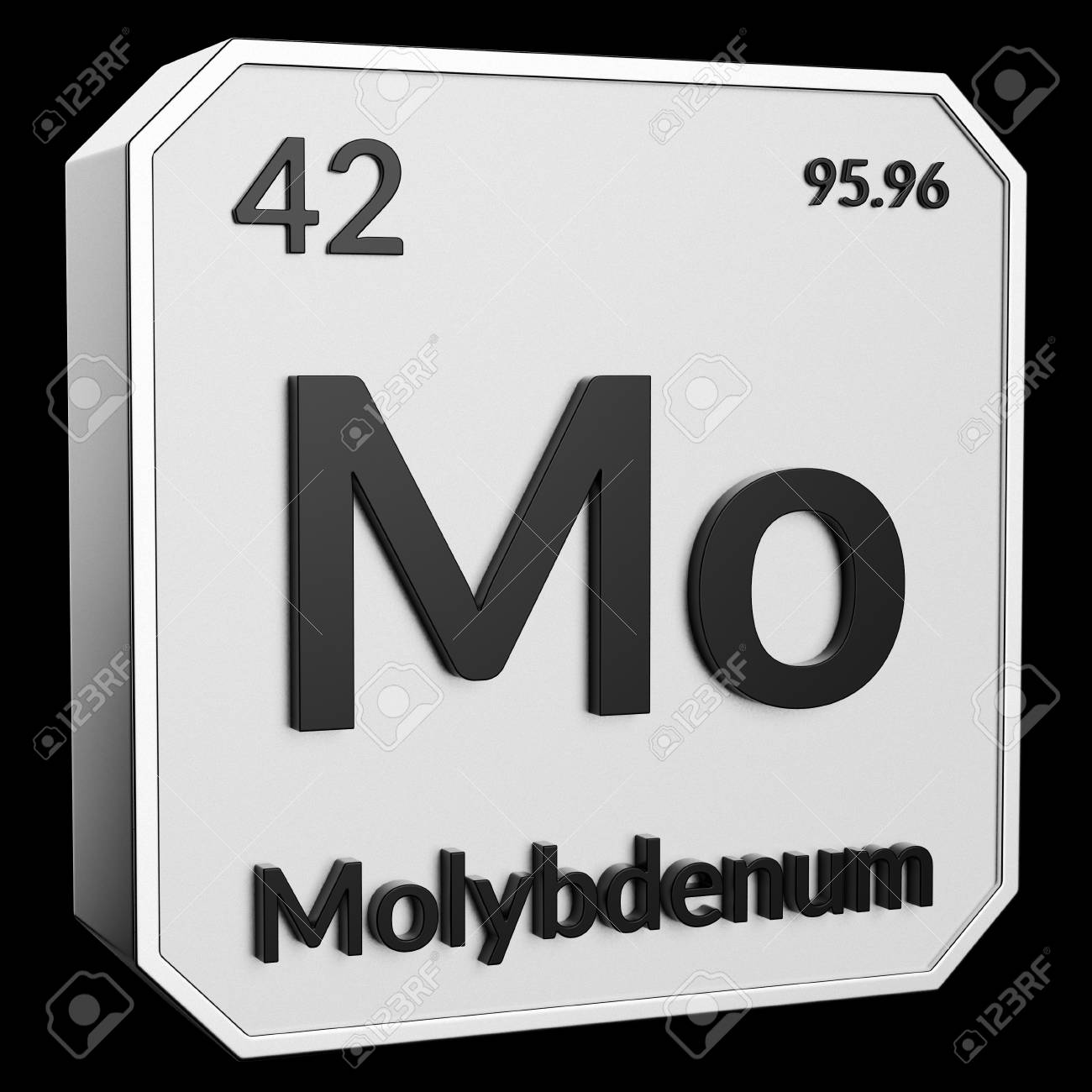 3d Text Of Chemical Element Molybdenum Its Atomic Weight Periodic