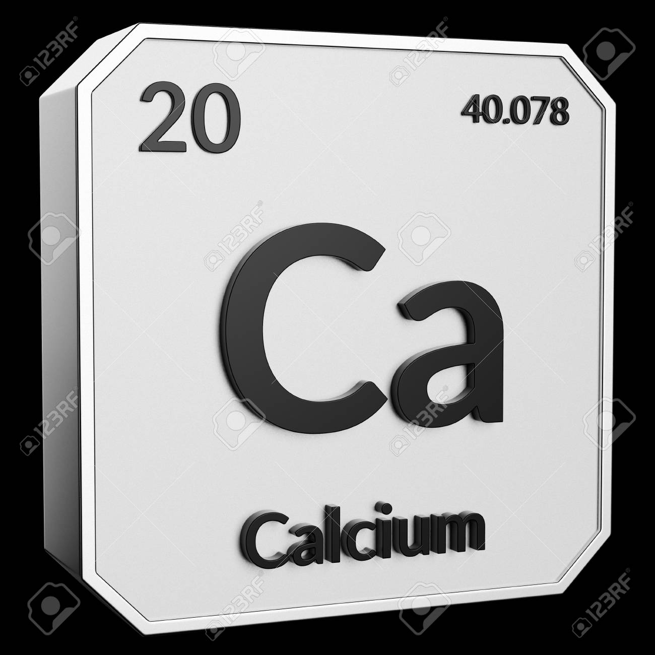 3d Text Of Chemical Element Calcium Its Atomic Weight Periodic