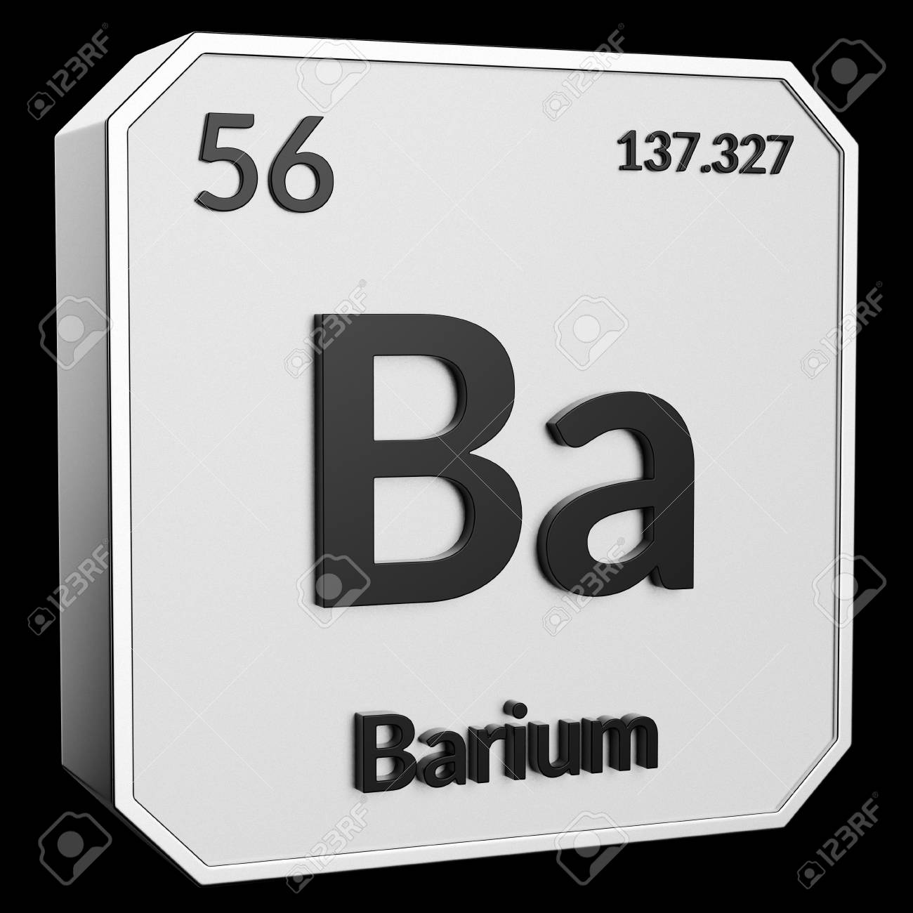 3d Text Of Chemical Element Barium Its Atomic Weight Periodic