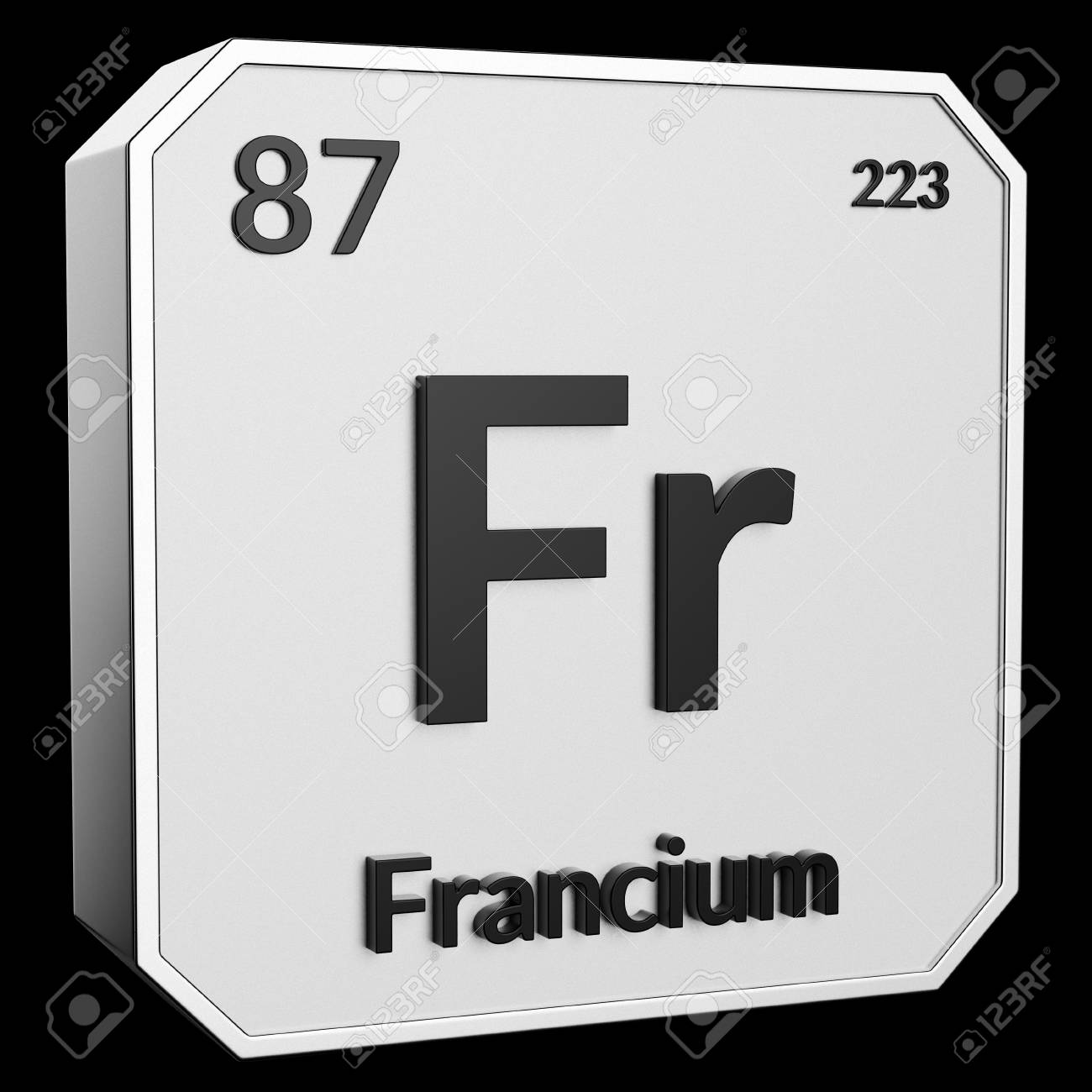3d Text Of Chemical Element Francium Its Atomic Weight Periodic