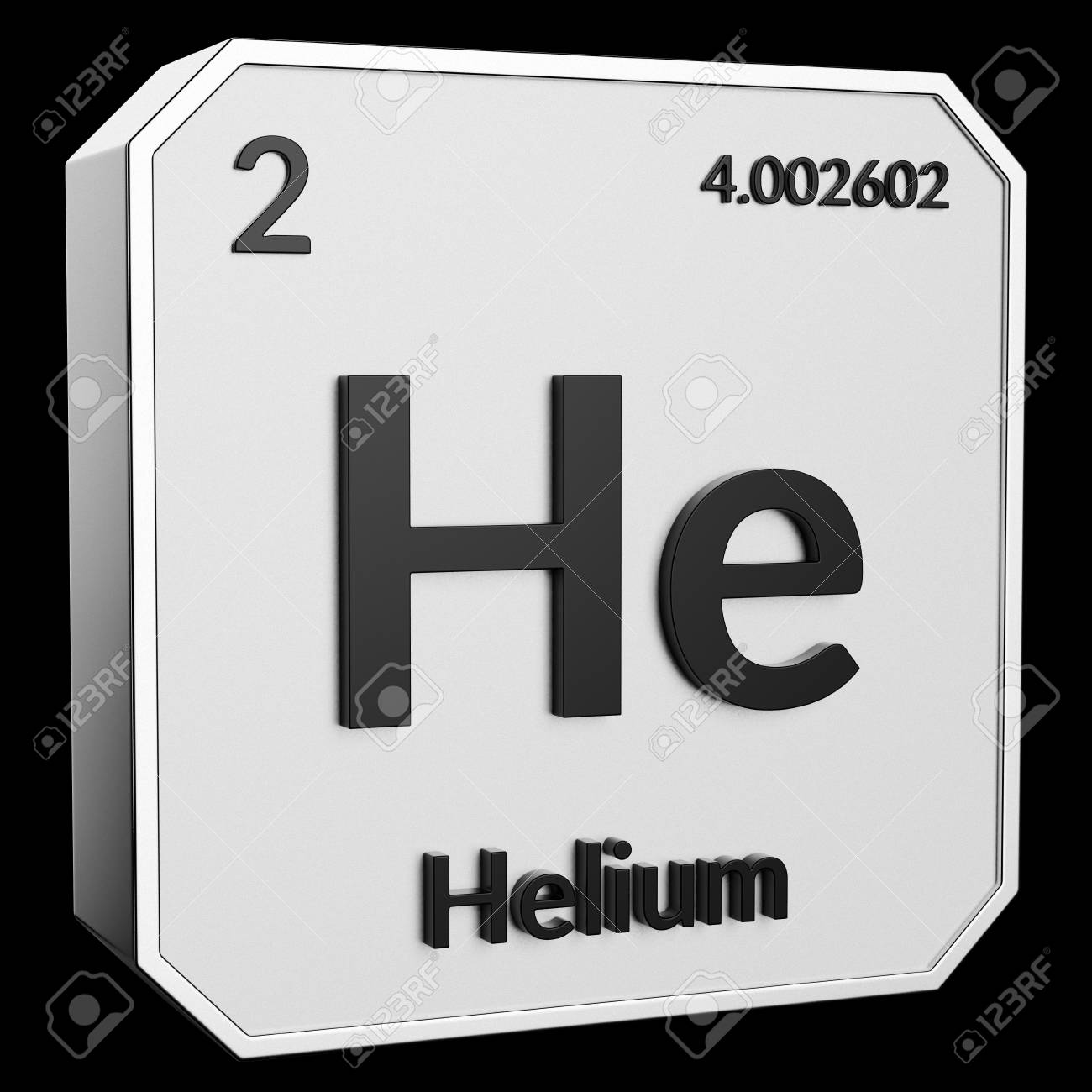 3d Text Of Chemical Element Helium Its Atomic Weight Periodic