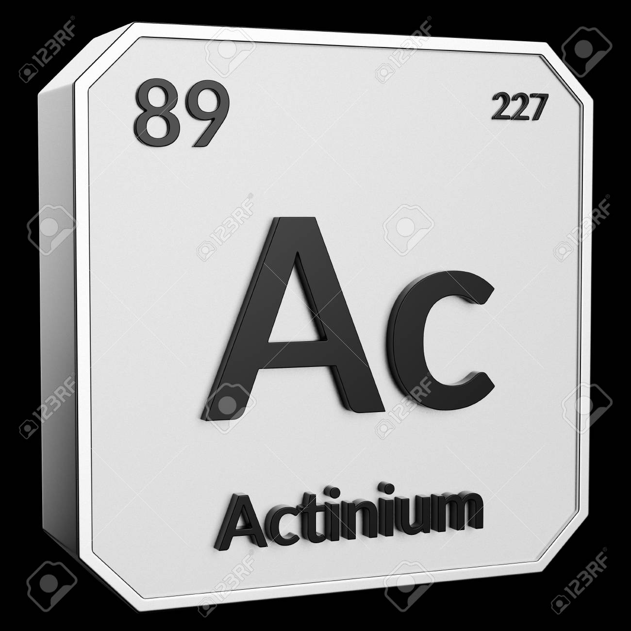 3d Text Of Chemical Element Actinium Its Atomic Weight Periodic