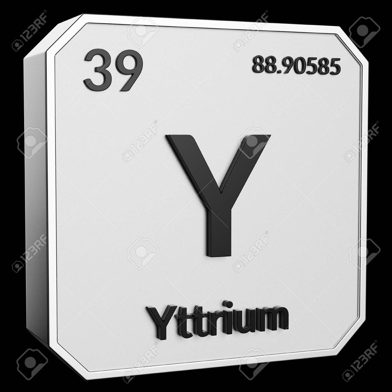 3d Text Of Chemical Element Yttrium Its Atomic Weight Periodic