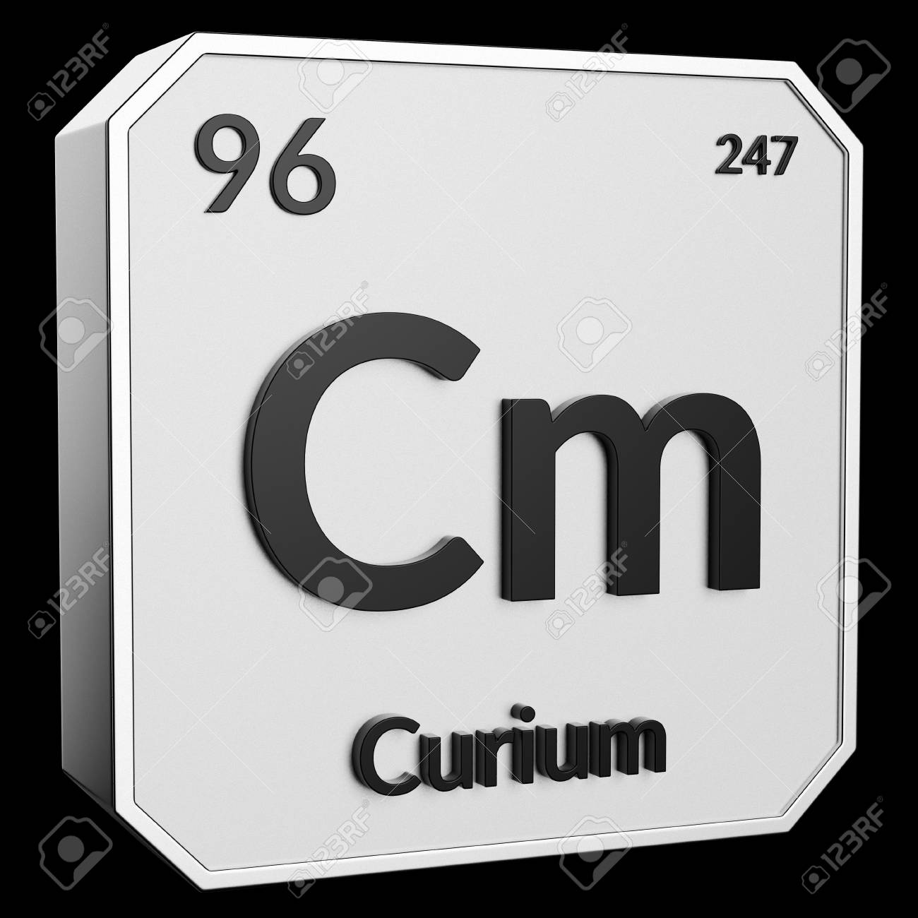 3d Text Of Chemical Element Curium Its Atomic Weight Periodic